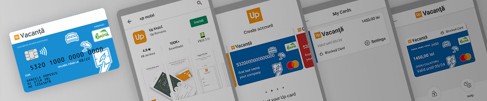 Activare card de vacanță Up